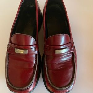 Coach Rae Lo JO53 Womens Red. Classic Loafer Leath